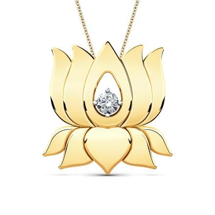 Aarna lotus pendant jewellery india online caratlane aarna lotus pendant audiocablefo