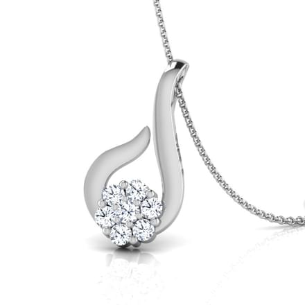Threaded Flower Diamond Pendant