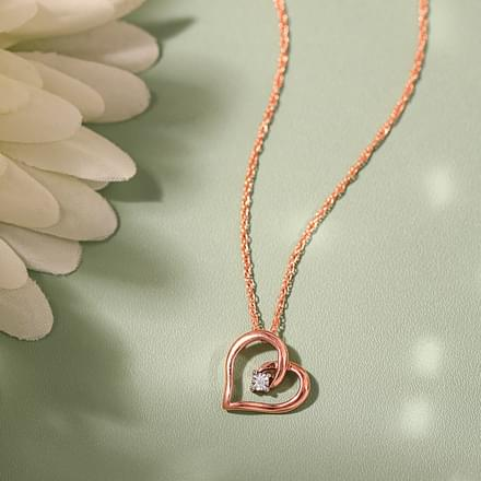 Amanda Gold Pendant in 14KT Rose Gold Jewellery India line