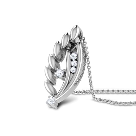 Dancing Couple Platinum Pendant