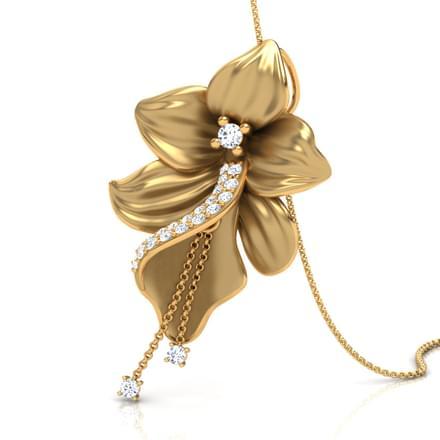 Orchid pendant jewellery india online caratlane orchid pendant aloadofball Choice Image