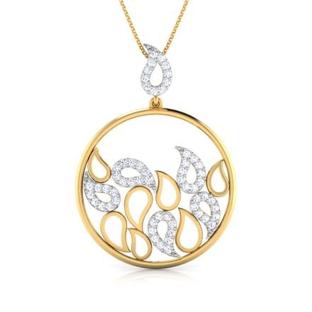 Rizwana paisley diamond pendant jewellery india online caratlane rizwana paisley diamond pendant aloadofball Choice Image