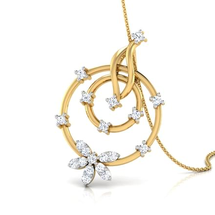 Circle Cluster Diamond Pendant