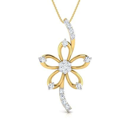 flower necklace charm c rose jewelry loading pendant gold s image beauty itm delicate is silver
