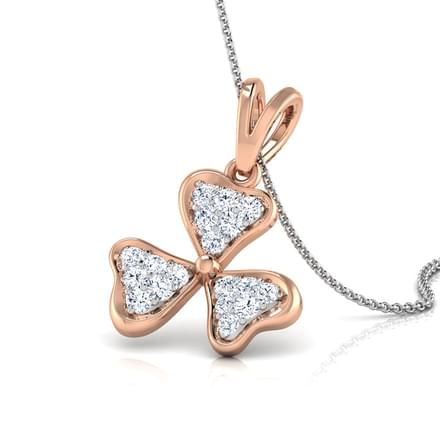 Clover Leaf Diamond Pendant