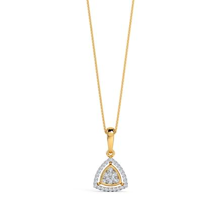 Daisy Triangle Halo Pendant