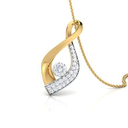Calla Petalled Diamond Pendant