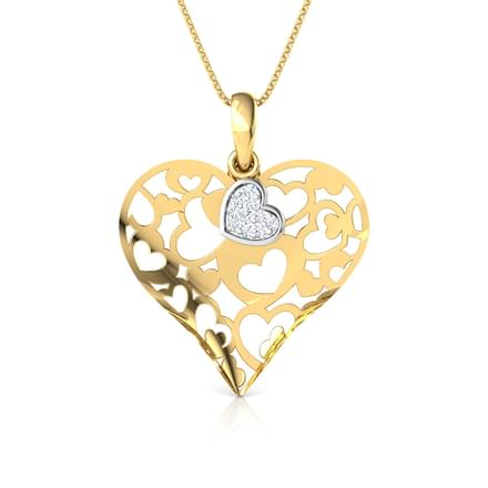 Ruth Heart Cutout Pendant