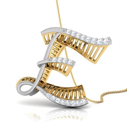 Ira alphabet e pendant jewellery india online caratlane ira alphabet e pendant altavistaventures Images