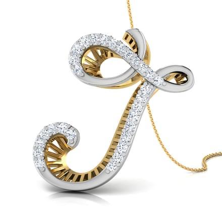 Sparkles Gold amp Diamond Alphabet V Pendant  Gold
