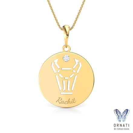 Taurus Personalised Zodiac Pendant
