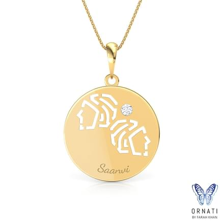 Gemini Personalised Zodiac Pendant