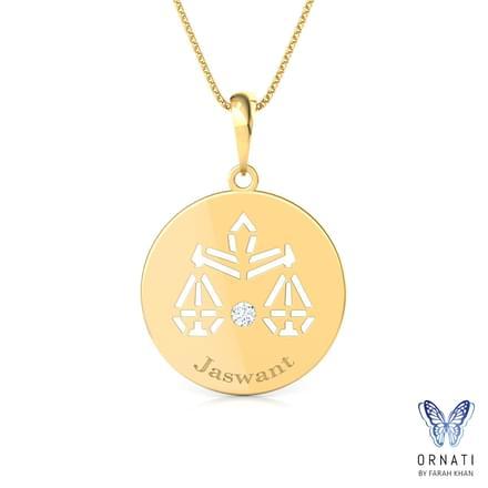 Libra personalised zodiac pendant jewellery india online libra personalised zodiac pendant mozeypictures Images