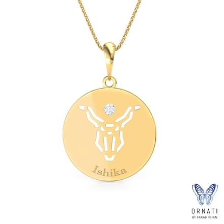 Capricorn Personalised Zodiac Pendant