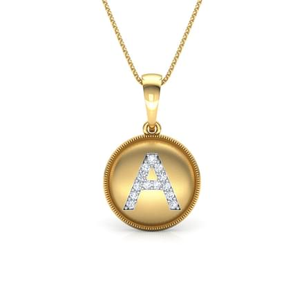 78 initials pendants designs buy initials pendants price rs alphabet a pendant aloadofball Image collections
