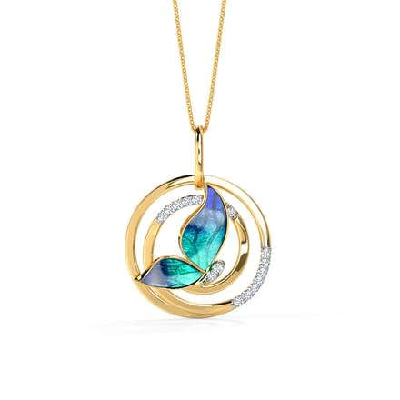 884 pendants price starting rs 3598 swirl blue butterfly pendant aloadofball Gallery