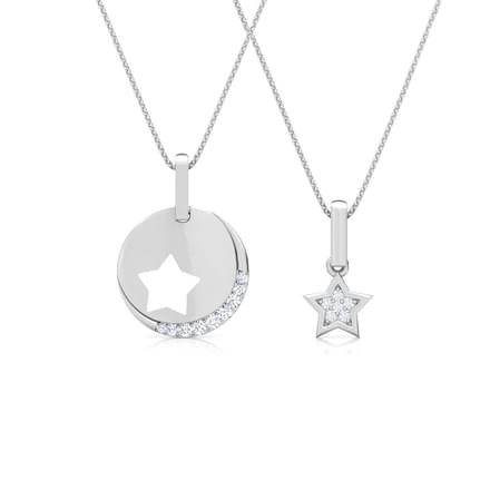 Starry Mother and Daughter Duo Pendant
