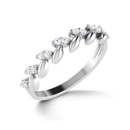 Floral Elegance Platinum Ring Jewellery India Online