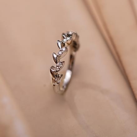 floral elegance platinum ring jewellery india