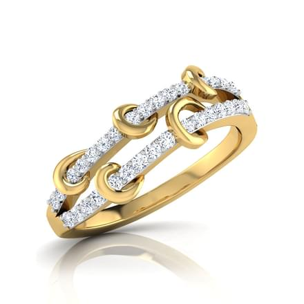 Ivy Two Row Diamond Band