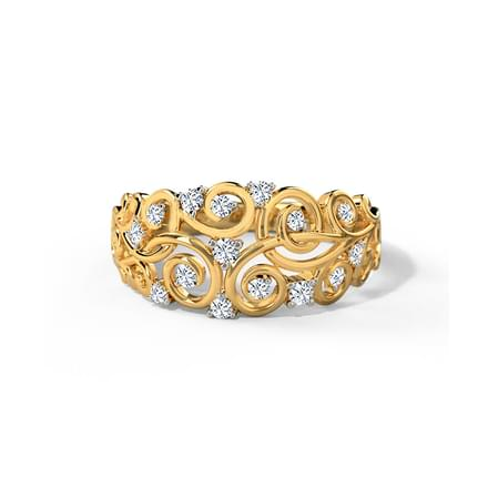Holly Swirl Diamond Band