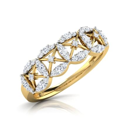 Ava Petalled Diamond Band