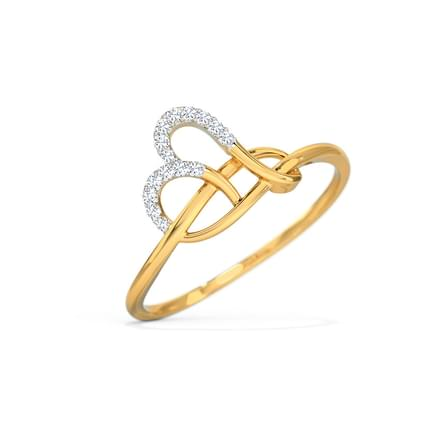Terry Heart Twine Ring