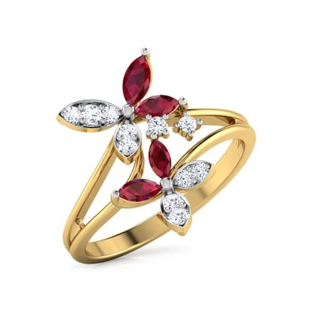 Duo Flower Ring