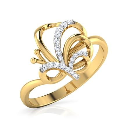 Winsome Butterfly Ring