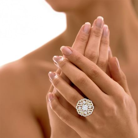 Glitter Cupola Ring