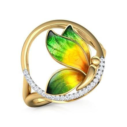 Encircle Green Butterfly Ring