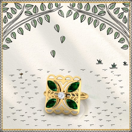 Kusum Intricate Ring