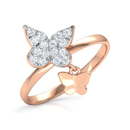 Trendy Butterfly Dangle Ring