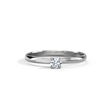 Classic Platinum Diamond Ring