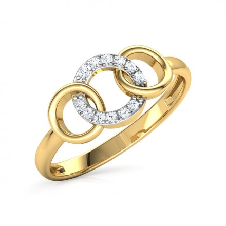Trio Interlinked Ring
