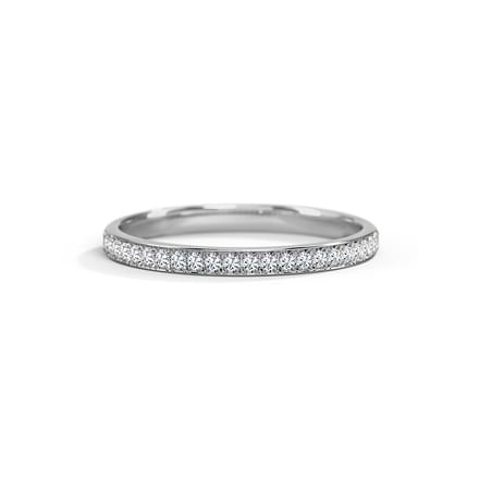 Megan Platinum Band for Her