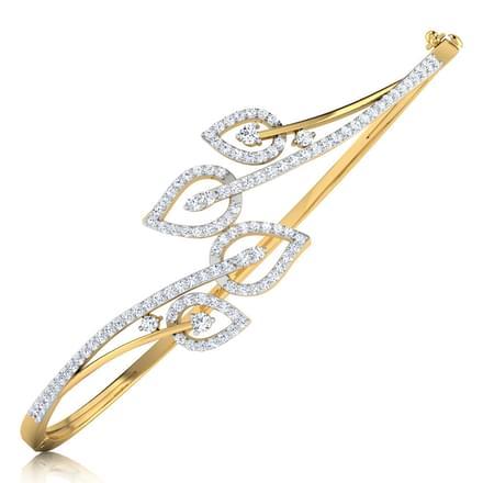 Laura Leaf Bracelet Jewellery India line CaratLane