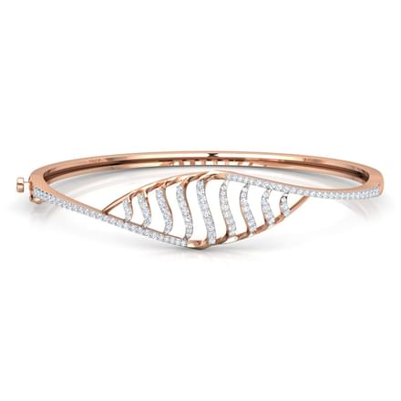 Curved Stripes Diamond Bracelet