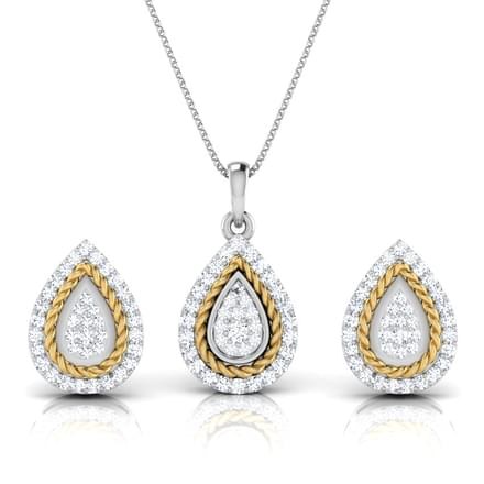 Olivia Filigree Pear Matching Set