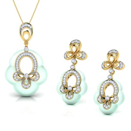 Cyndy  Chalcedony Matching Set