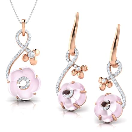 Iva  Rose Quartz Matching Set