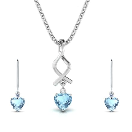 Metro Topaz Heart Matching Set