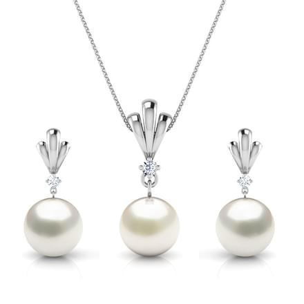Simple Drop Pearl Matching Set