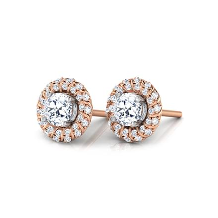 Tansy Solitaire Stud Earrings