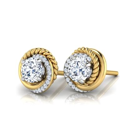 Cyra Solitaire Stud Earrings