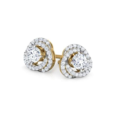Twinkle Swerve Solitaire Stud Earrings