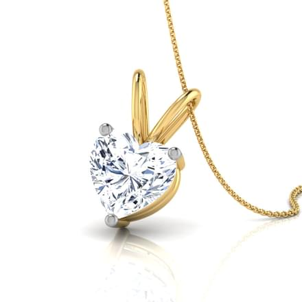 V loop solitaire pendant jewellery india online caratlane v loop solitaire pendant aloadofball Image collections