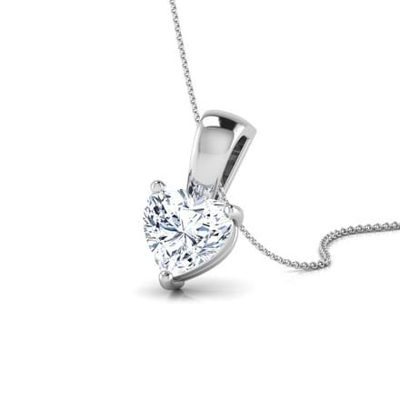 35 solitaire pendants designs buy solitaire pendants price rs jael heart solitaire pendant aloadofball Gallery