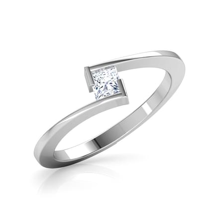 Metro Princess Solitaire Ring