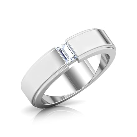 Solitaire Baguette Diamond Ring
